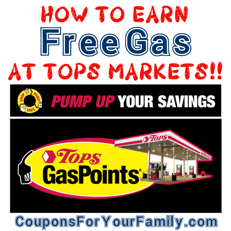 How to Earn Free Gas with Tops Markets Gas Points Promotions