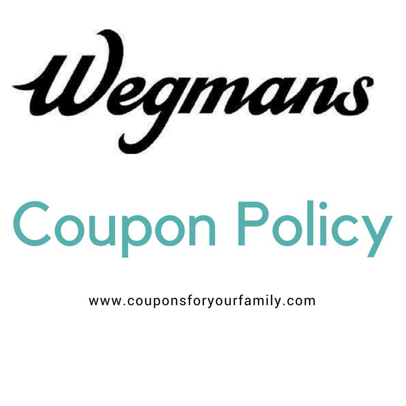 Wegmans Coupon Policy