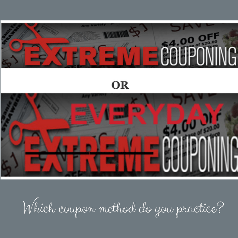 Extreme Couponing vs Everyday Couponing- which method do you practice?