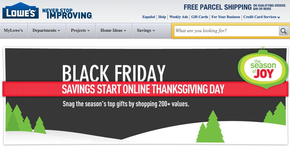 Black Friday Deals: Lowes 11/22--Shop Online NOW!! $.99 Pointsetta, $48 Artificial Christmas ...