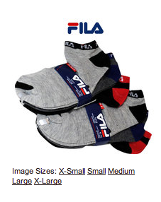 Deals Under $10:  Great Deal on Fila Socks……less than $1 a pair!