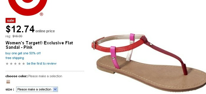 Target Daily Deal 5/26– Women's Target® Exclusive Flat Sandal – Pink for $12.74!