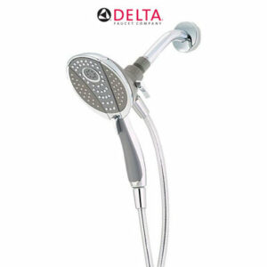 delta in2ition chrome 4 spray dual 2in1 shower headhand shower