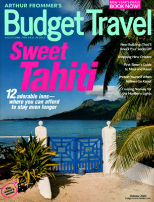 Budget Travel Magazine only $3.50 today 5/27 only!