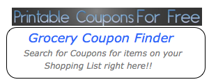 our printable coupon database
