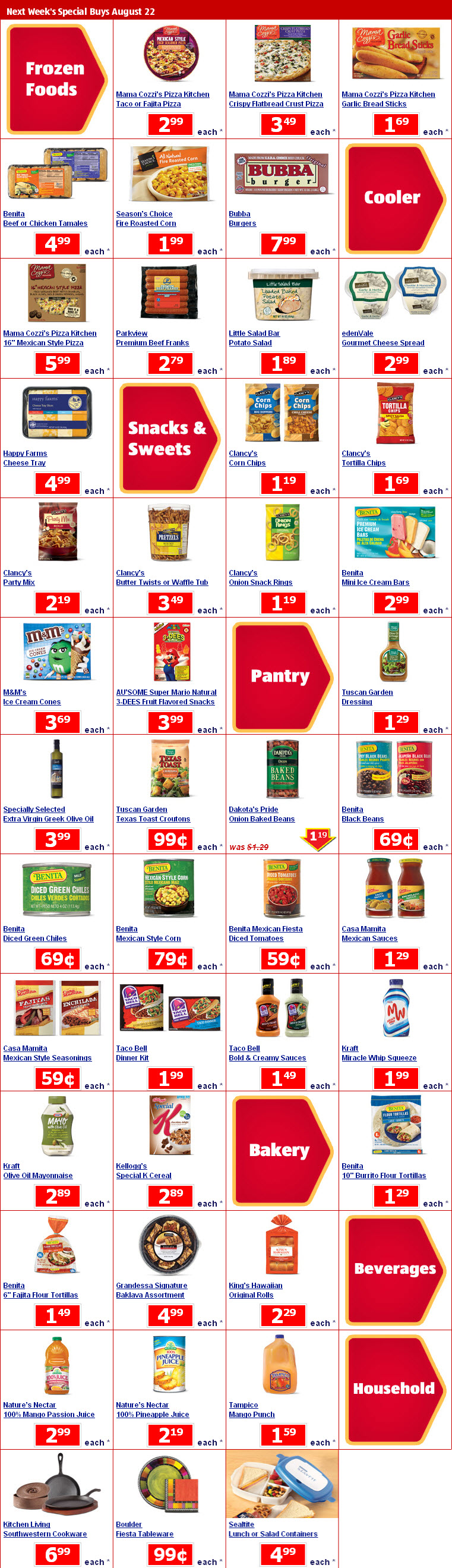 Aldi's Special Buys 8/15: Bubba Burgers only $7.99 & more!!