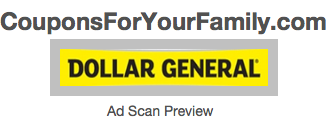 Preview the Dollar General Ad Scan Nov 9-15 and Dollar General Coupons