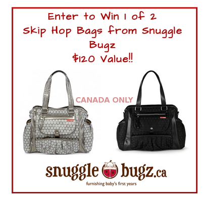Canadians Only: Win (1) Snuggle Bugz Diaper Bag for you & (1) for a friend – total value $240 **ends 11/23**