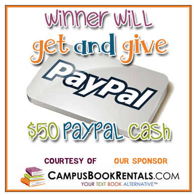 Giveaway: Enter to win (2) $50 Paypal Cash…one for you and one for a friend  **ends 3/8**