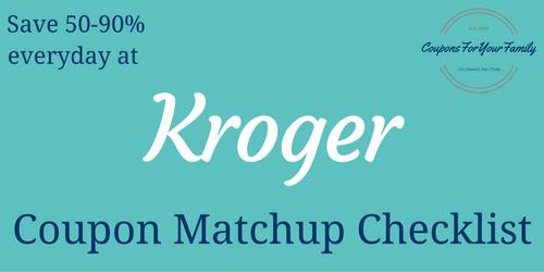 Kroger Coupons Matchups
