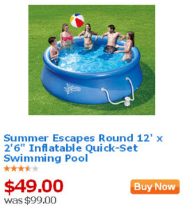 Walmart value of the day 6 19 13 summer escapes round 12 39 x 2 39 6 inflatable quick set swimming Inflatable quick set swimming pool