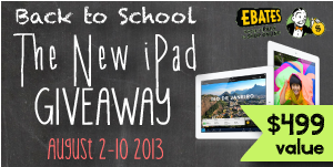 Back to School Deals and iPad Giveaway: Enter to Win now **ends 8/10**
