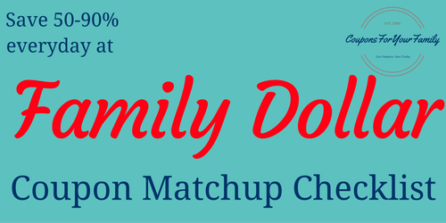 family dollar coupon matchups
