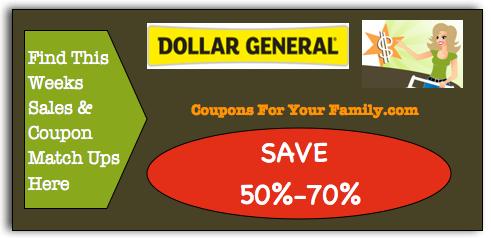 Dollar General Coupon Matchups Sept 27 Oct 4 Free Sheba