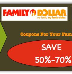 Family Dollar Coupon Matchups