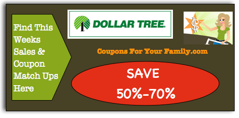 Dollar Tree Coupon MAtchups