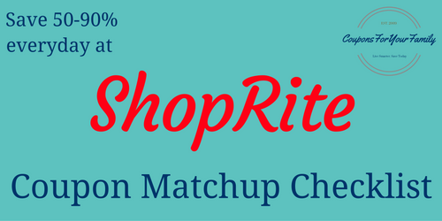 ShopRite Circular and Coupon Matchups