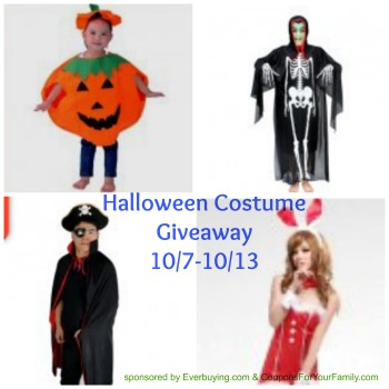 Win a FREE Halloween Costume from Everbuying.com