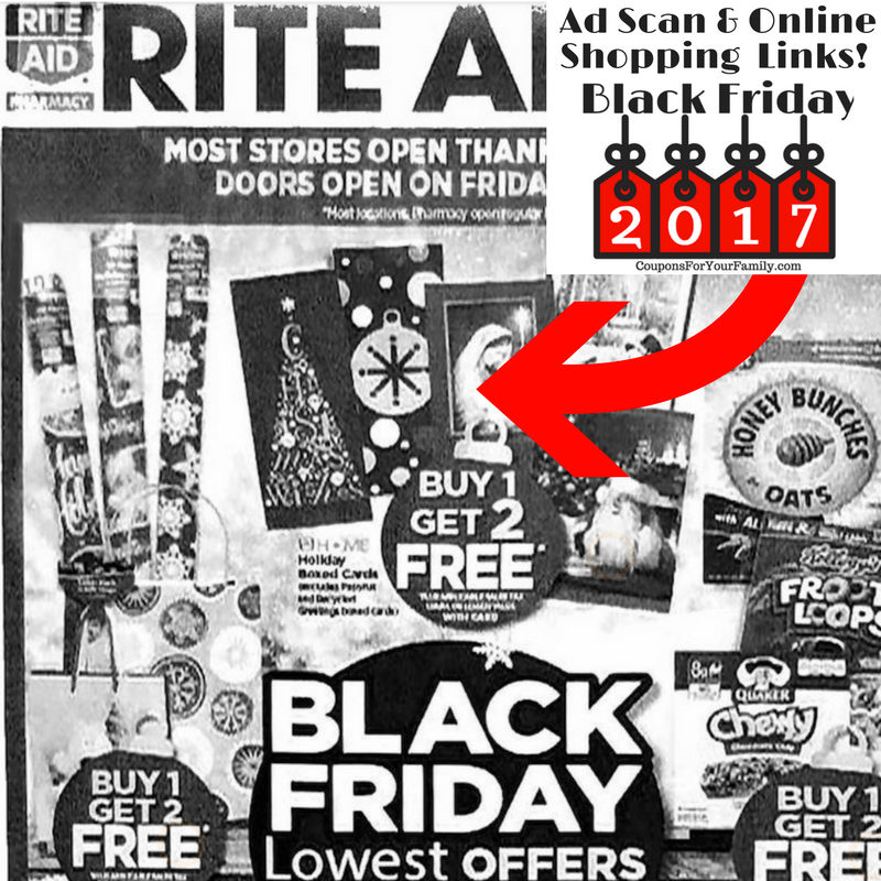 2017 Rite Aid Black Friday Deals is live with Full Ad Scan & shoppable online links!!