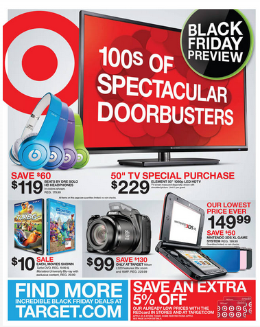 Target Black Friday Deals 2013