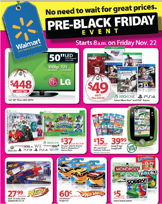 Walmart Pre Black Friday Event