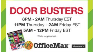 Office Max Doorbusters