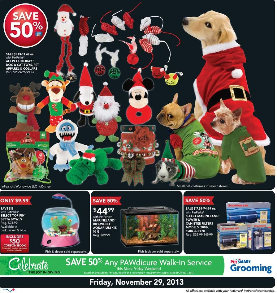 PetSmart Black Friday Ad Scan for 2013: Free shipping on PetSmart ...