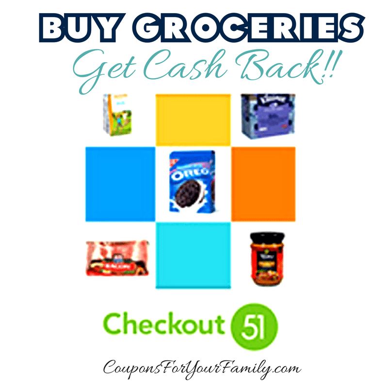 Earn Cash Back with Checkout 51 on your weekly Grocery Bill..new offers every Thursday!!