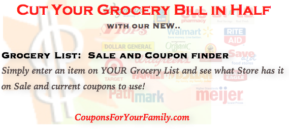 Search for Items on Your Grocery List that are on Sale