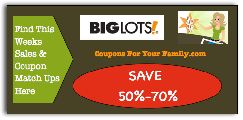 Big Lots Coupon Matchups