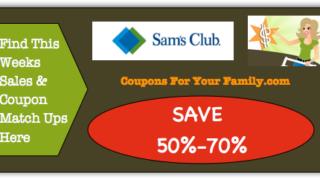 Sams Club Coupon Matchups