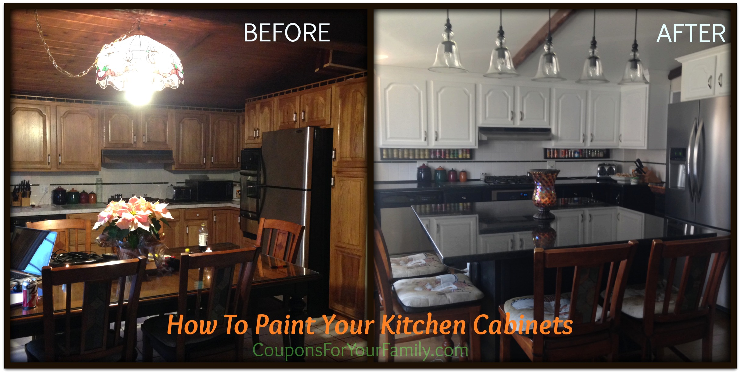 Do It Yourself and Save Project: How to Paint Oak Kitchen Cabinets