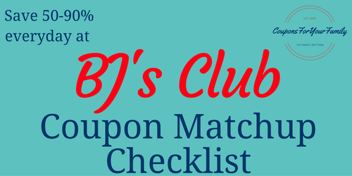 BJS WHolesale Club Cupon MAtchups