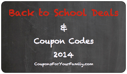 Back to School Coupon Codes