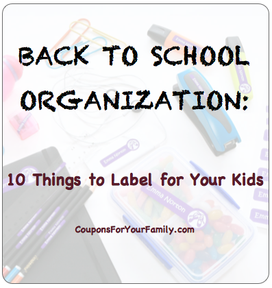 Back To School Organization: 10 things To Label for your Kids plus a 15% coupon code for Bright Star Labels!