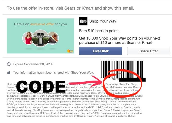 Free $10 Shop Your Way Rewards
