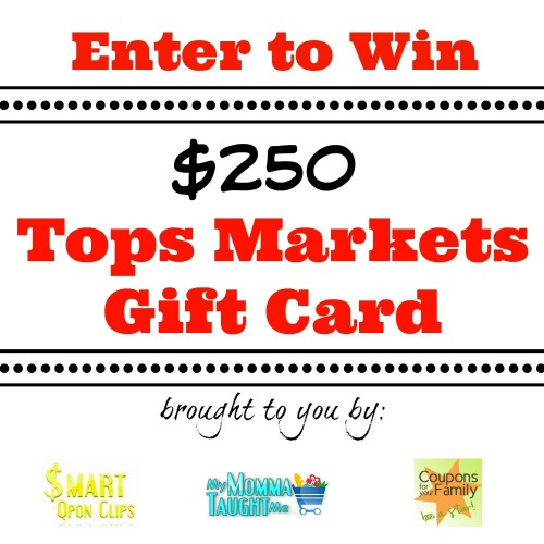 Holiday Meals Gift Card Giveaway 2014: Enter to win a $250 Tops Markets Gift Card **ends 11/15**
