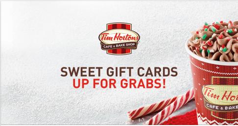 Tim Hortons Menu & Giveaway