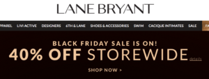 Lane Bryant cyber MOnday