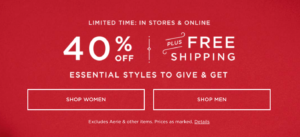 American Eagle Cyber MOnday