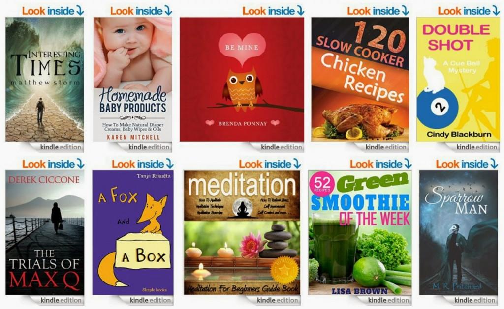 10 Free Kindle Books 1-23-15