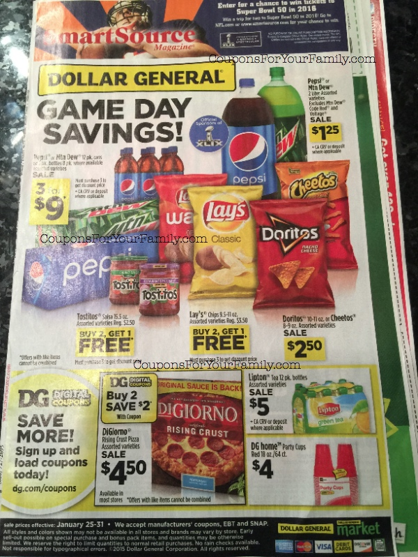 Dollar General Ad Scan Jan 25-31 is live: $5 off $15 P&G purchase and 6 pages of deals!