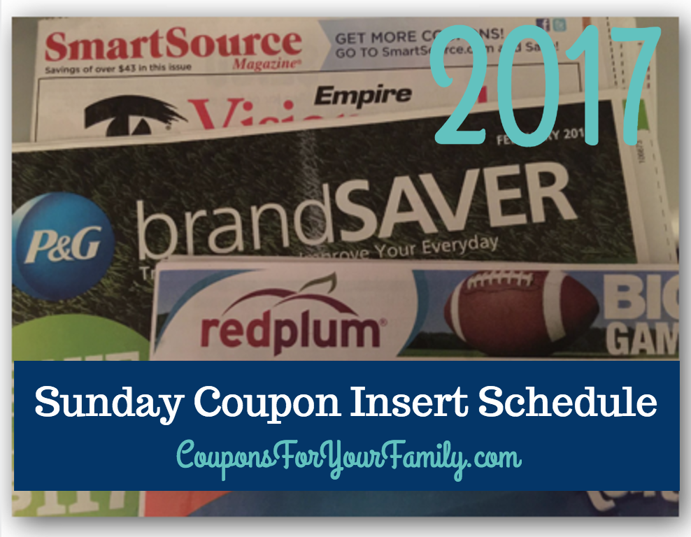 2017-sunday-coupon-insert-schedule