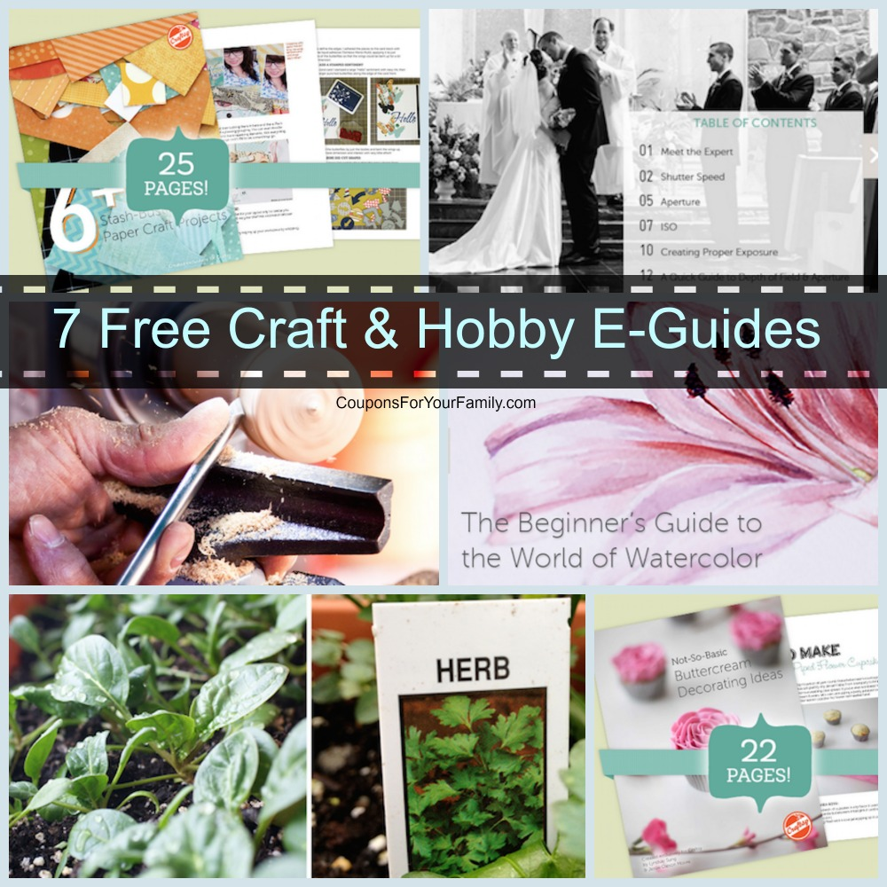 get yours now  download 7 free craft and hobby guides