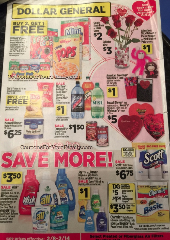 The Dollar General Ad Scan Feb 8-14 is live: $.25 Zest Body Wash and more!