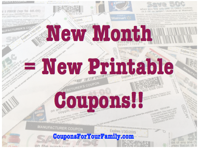 Hot New Monthly Printable Coupons released May 1st: over $500 in coupons to print now!