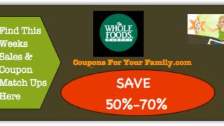 Whole Foods Coupon Matchups
