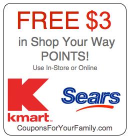 Shop your way rewards points coupons