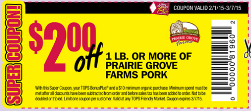Tops Store Coupons To Print Here 2 Off 10 Organic And