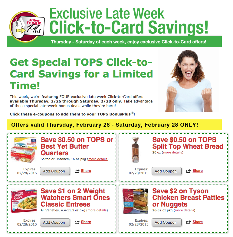 Tops Store coupons